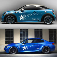 2 Pcs Car Both Body Sides Decal Stickers Star Styling Cover Scratch DIY Decor