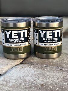 New!YETI (2 items) Rambler Lowball 10 oz.  *Olive*      RETIRED