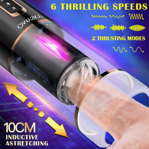 Automatic Telescopic Rotating Vaginal Sex Pussy Electric Thrusting Male Cup Toy
