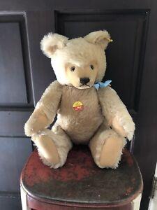 """Vintage Steiff  Beige Mohair Original Teddy Bear 80's 0201/51 20"""" tall"""