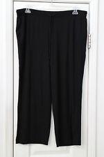 Women's XL black step pants by DKNY NWT