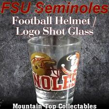 (New) FSU Seminoles Football Helmet / Logo Shot Glass. Florida State University