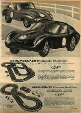 1965 ADVERT Strombecker Jaguar XKE Ferrari Europeon Road Race Formula 4 Slot Car