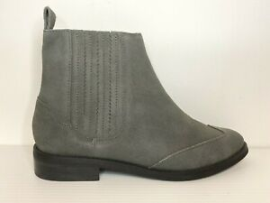 Wittner Boots Size 9/40 Confetti Leather Suede Grey Flat Ankle Elasticated
