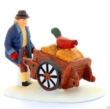 Dept 56 New England Village - Harvest Seed Cart 56456 Farmer W Chickens New