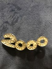 2000 Clear Rhinestones Pin Millennium Year