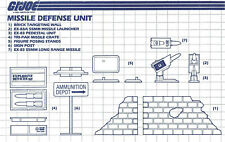 G.I. JOE Series 3 Vintage Blueprints Original Instructions MISSILE DEFENSE UNIT