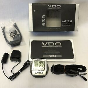 VDO HC 12.6 Cycle Computer Heart Rate Monitor Open box