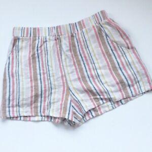 NWT Forever 21 Linen Blend Lounge WearStripe Summer  Short Size  XS