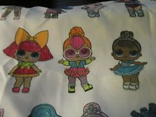 Iron on fabric applique- Choice Of LOL dolls 3 dolls per purch. email no. 1-9
