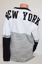 Victorias Secret PINK Bling NEW YORK NY Varsity Pullover Sweatshirt S Tunic NWT