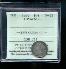1887 Canada 10 Cents ICCS Certified F15 DCB199
