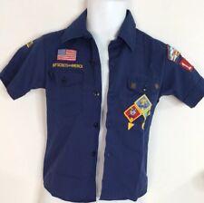 Boy Scout Uniform Shirt SS Patched Pins Blue Official