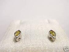 Orecchini argento Cubic Zirconia citrino navette