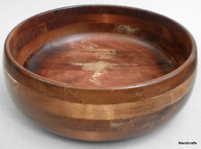 Baribocraft Serving Salad Bowl Maple Wood 9.5in Teak Stain 1970s Lesco Canada
