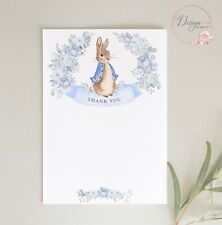 Peter Rabbit THANK YOU CARDS - Pack of 8 - BABY BOY - NOTELETS