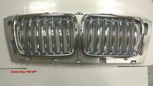 MIT CHROMED FRONT SILVER REAR FRONT KIDNEY GRILLE BMW E34 5 SERIES 1994-1995