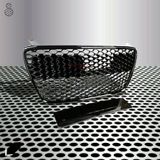 Fit for 07-12 R8 42 Gen1 Kühlergrill Main Upper Grille Gloss Blackout Euro Style