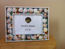"Sea Shell Photo Frame Nautical Decor Shell Beach Photo Picture Frame 4x6"""