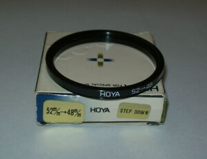 VINTAGE HOYA 52- 48MM STEP DOWN FILTER RING WITH BOX MADE IN JAPAN FREE SHIPPING