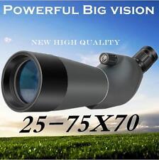 25-75X70 HD Optic Monocular Telescope Waterproof Spotting Scope + Tripod BAK4