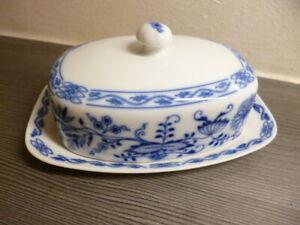 Epiag Sehr schöne Butterdose Porzellan Zwiebelmuster neuwertig