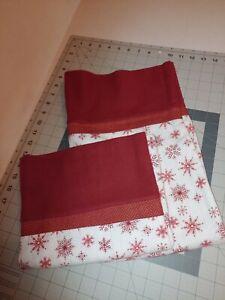 Pair Christmas Standard/Queen Size 100% Cotton Flannel Pillowcase New Handmade