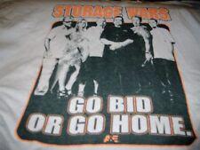 "Vintage STORAGE WARS TV Show Cast Men's SZ XL ""GO BID OR GO HOME"" Barry Weiss"