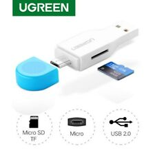 UGREEN OTG Card Reader High Speed USB 2.0 Micro SD T-Flash TF Memory Card Reader