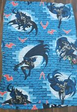 "Vintage DC Comics Batman & Robin Bed Sheet Twin Size Flat Sheet (64"" x 96"") 1999"