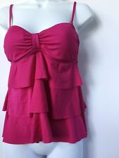 Kenneth Cole Reaction Swimsuit Top New Tankini Size Small Swim Pink