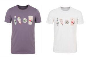 Paul Smith Bowling Pins T Shirt - Crew Neck - White Purple Black - S M L XL