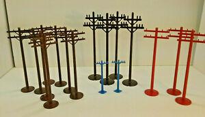 "Vintage Plasticville Telephone poles 6 """