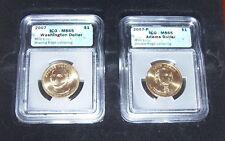 2007 WASHINGTON AND ADAMS ERROR SET ICG MS65