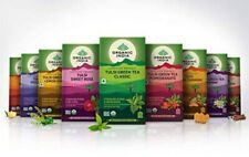 ORGANIC INDIA Tulsi Green Tea Many Flavors Ginger Lemon Honey Pure Indian Herbs
