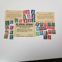 Germany 36 Stamp Lot Hitler 3rd Reich Nazi Occupation Poland Hitler  MNH WW2