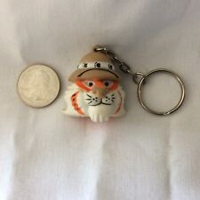 1997 Exxon Corp. Tiger In Pith Helmet Key Chain  -Excellent- Unused, hard rubber