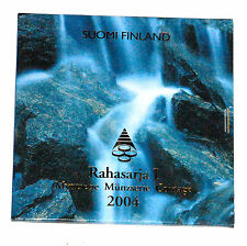 COFFRET FDC EURO FINLANDE 2004  8 PIECES + MEDAILLE COMMEMORATIVE KMS