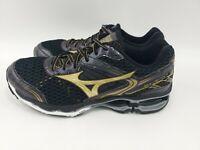 Men's Mizuno Wave Creation 17 Running Shoes Size 12 Black Gold J1GR151876