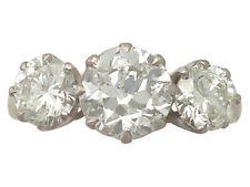 Natural Not Enhanced Diamond Three-Stone Fine Rings