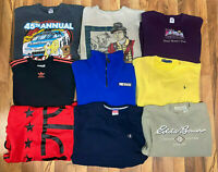 Lot of 9 Vintage 90s Crewneck Sweatshirts Pullovers Wholesale Resale Adult L/XL