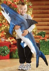 "48"" Giant Great White Shark Fish Pillow Plush Toy Jumbo Tree House Kid"