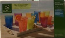 HD Designs Outdoors 12 Piece Drink ware Set Multi-Color 6 Tumblers 6 Old Fashion