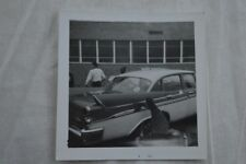 Vintage Car Photo Girl Washing 1958 Dodge Wheels & Fins 845