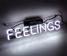 """Feelings"" Bistro Beer Bar Neon Sign Light Room Wall Floor Window Man Cave Shop"