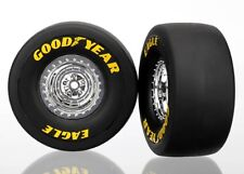 NEW! Traxxas 1/8 Funny Car Mounted Rear Wheels & Tires 6973 TRA6973
