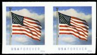 5052a, Scarce Die Cutting Omitted ERROR Pair Flag Forever Stamps - Stuart Katz