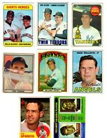 Willie McCovey Harmon Killebrew Bobby Cox RC Old Baseball cards 8 lot