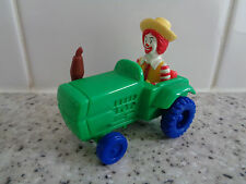 McDonalds Happy Meal Toy Ronald mcdonald in green tractor - farmer promotion