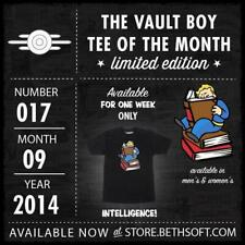"""New! Fallout Vault Boy VBotM Black T-Shirt (#017 """"Intelligence"""") [Men's: XL ]"""
